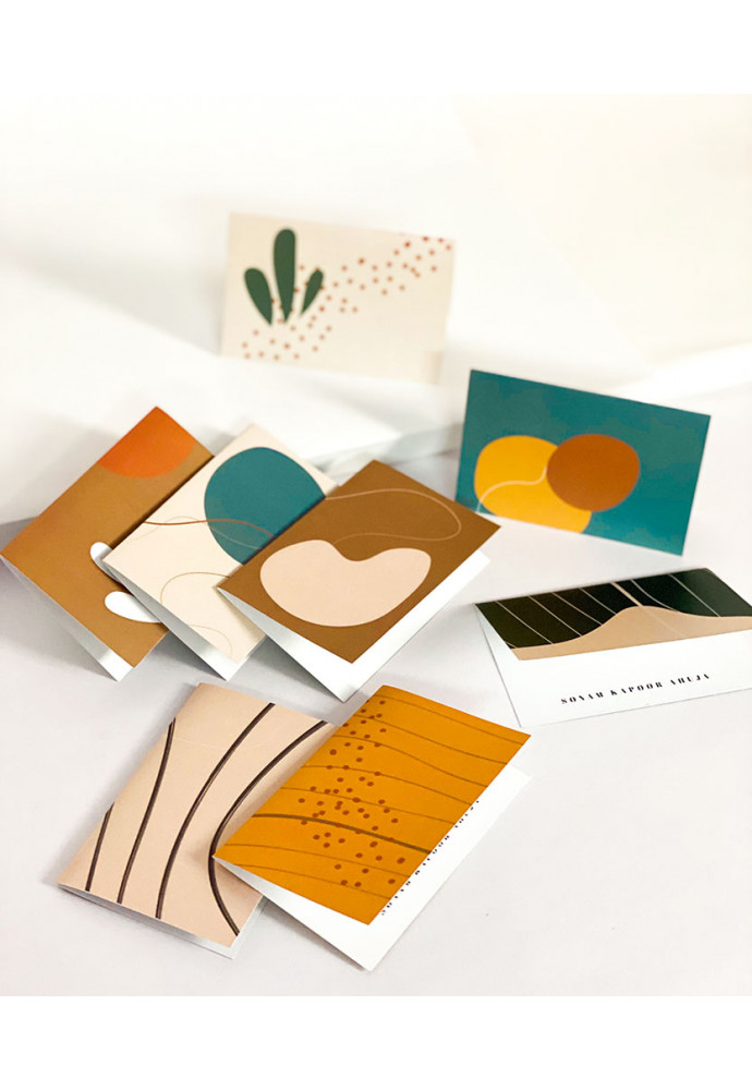 Abstract Note Card | Set of 8